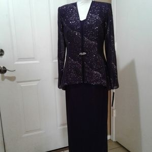 🌺 NWT Stunning 2 Piece Maxi Dress & Jacket Set